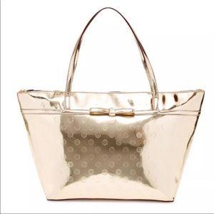 Kate Spade Gold Metallic purse SOPHIE Tote Bag